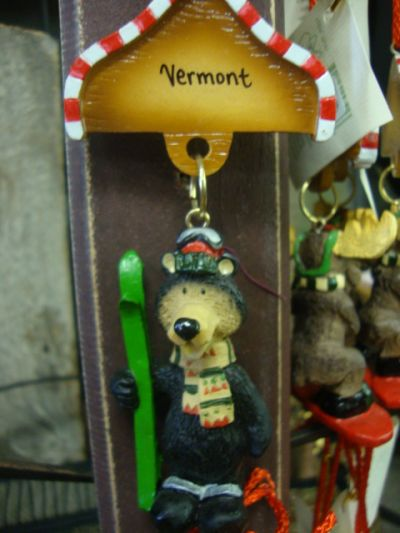 Skiing Bear Ornament