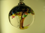 Tree of Enchantment blown glass orb
